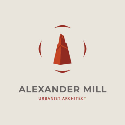 Architecture Firm Logo Template Featuring a Concrete Structure 1420h 2444