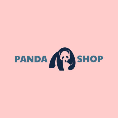 Pet Store Logo Creator with an Abstract Panda Icon 1161g-2411