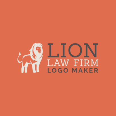 Law Firm Logo Maker with a Regal Lion Illustration 1194h-2411