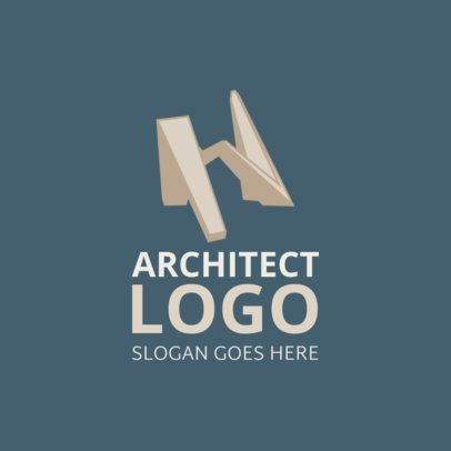 Architecture Firm Logo Generator with an Abstract Structure Graphic 1210e 2444