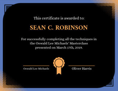 Certificate Template for Completion with an Award Graphic 1670l