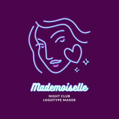 Nightclub Logo Creator with a Neon Illustration 2414g