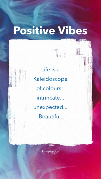 Instagram Story Template for Quotes with a Colorful Haze