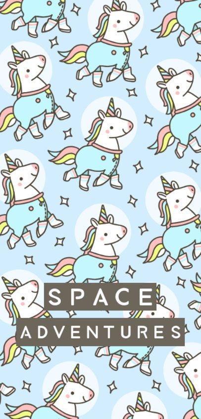 Phone Case Design TemplateFeaturing Space Unicorn Illustrations 1687h