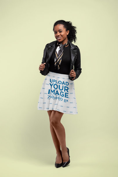 Skater Skirt Mockup of a Woman in a Studio 28648