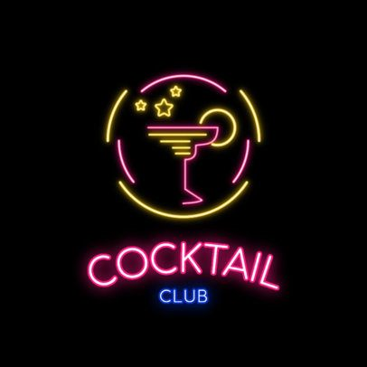 Logo Maker for a Nightclub with Neon Colors 2415