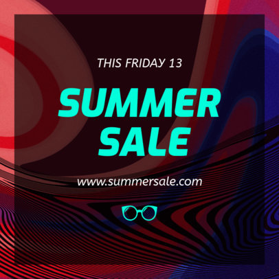 Instagram Post Maker for a Special Summer Sale Announcement 634m-1697