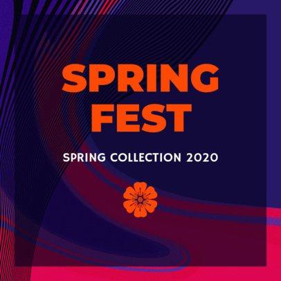 Instagram Post Design Template for a Spring Collection Teaser 634n-1697