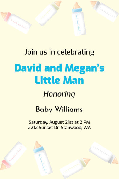 Baby Shower Invitation Maker 1685i