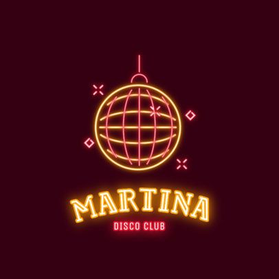Nightclub Logo Maker with a Retro Disco Ball 2415b
