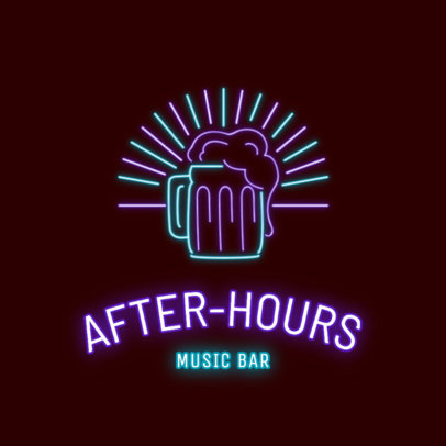 Bar Logo Maker Featuring a Full Beer Jar 2415e