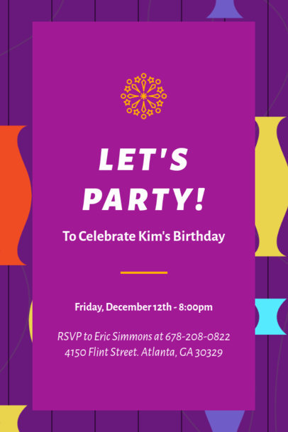 Invitation Template with a Happy Birthday Theme