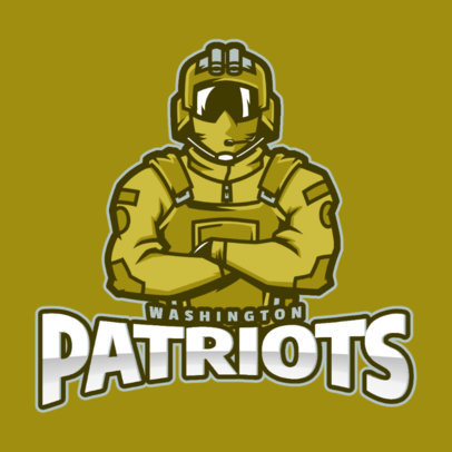 Gaming Logo Maker Featuring a Confident Soldier Illustration 2449aa