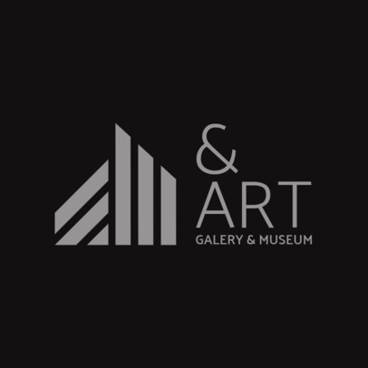 Avant-Garde Logo Maker for an Art Gallery 1311g