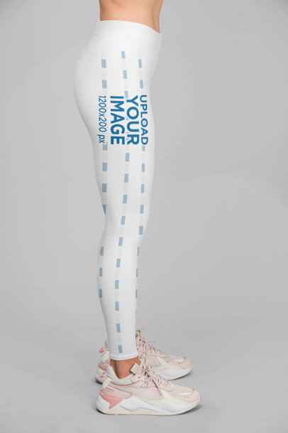 Side View Mockup of a Woman Wearing Leggings 28718