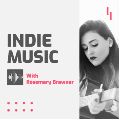 Simple Podcast Cover Template for an Indie Music Show 1721j