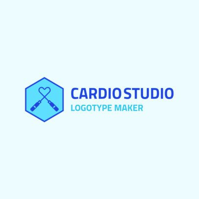 Fitness Logo Maker for a Cardio Studio 2458d