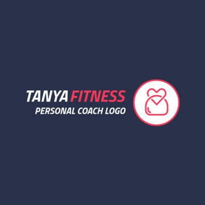 Fitness Online Logo Generator for Personal Trainers 2458e