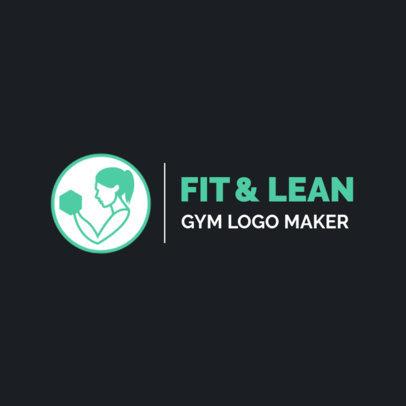 Gym Logo Generator With a Minimal Style 2458g