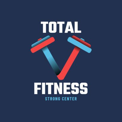Fitness Logo Maker with Modern Graphics 2459g