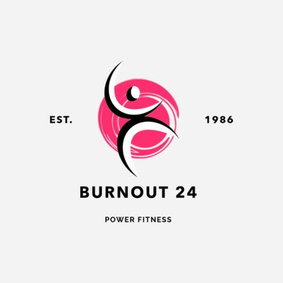 Fitness Logo Maker for Health and Wellness Training Centers 2457
