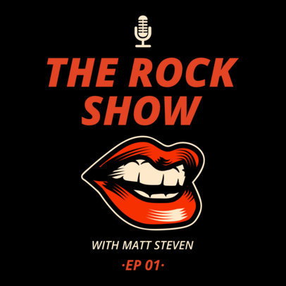 Podcast Cover Maker for a Rock Show 1719