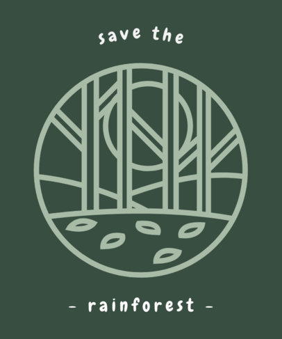 Amazonia Forest Awareness T-Shirt Design Template 1562i--1740