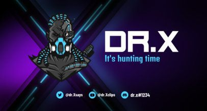 Twitch Banner Creator with a Fortnite Style Character 1735k - 1728
