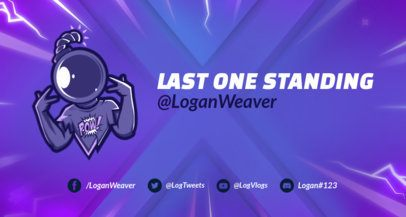 Fortnite-Styled Twitch Banner Maker with a Cracked Background 1735l -1728