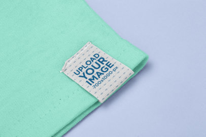 Clothing Label Mockup Attached to a Shirt's Sleeve 29034