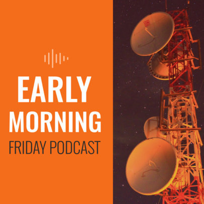 Podcast Cover Template for Early Risers 1718e