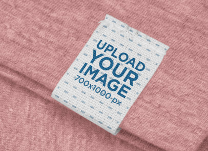 Clothing Label Mockup on a Customizable T-Shirt 29032