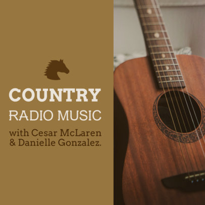 Podcast Cover Generator for Country Music Lovers 1718b
