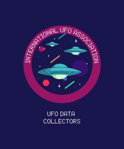 T-Shirt Design Maker with Alien Spaceships 1717c
