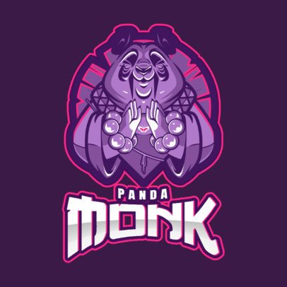 Gaming Logo Generator Featuring a Warrior Panda Illustration 2455b