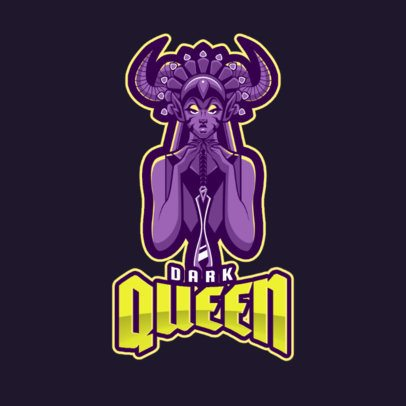 Gaming Logo Maker Featuring a Dark Queen Character Inspired in Mobile Legends 2455e