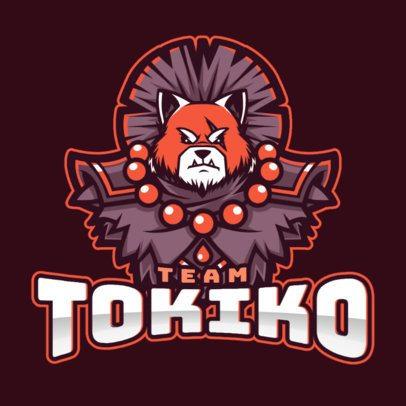 Gaming Logo Generator with a Fantasy Tiger Illustration 2455g