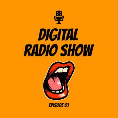Podcast Cover Template for a Digital Radio Show 1719e