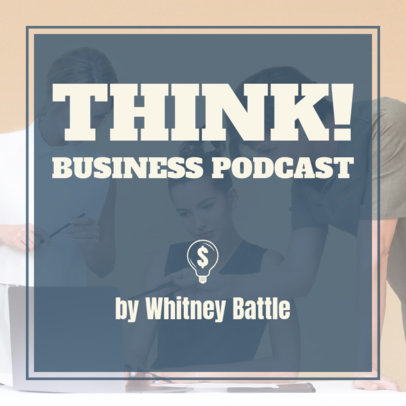 Business-Themed Podcast Cover Maker with a Money Sign Clipart 1722f