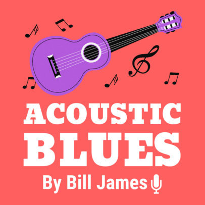 Podcast Cover Maker for Acoustic Jams Lovers 1724d