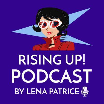 Cartoonish Podcast Cover Maker for Motivational Talks 1724e