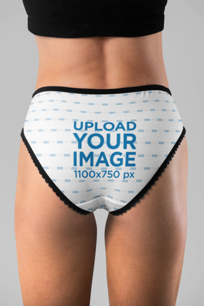 Underwear Mockup of Women's Panties in Back View 29207