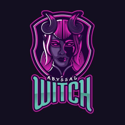 Logo Creator with a Witch Illustration Inspired in Mobile Legends 2455t