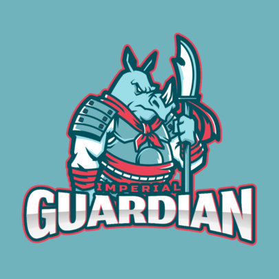 Mobile Legends-Inspired Logo with a Fierce Anthropomorphic Character 2455x