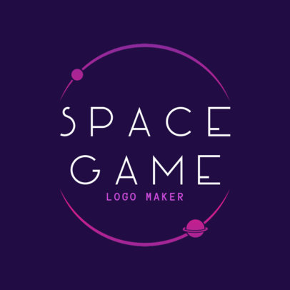 Gaming Logo Template with Space Graphics 2480a