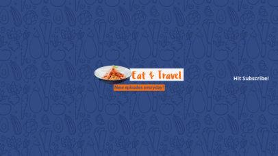 Youtube Banner Maker for Food Travel Channels 399c