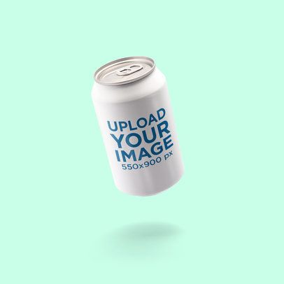 Soda Can Mockup Featuring a Solid Color Background 662-el