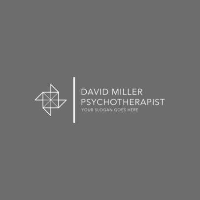 Minimalist Logo Maker for a Psychotherapist 1523f-2477