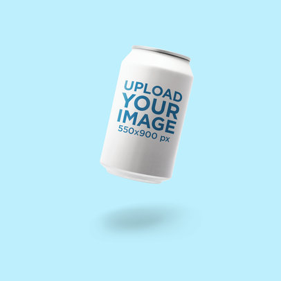 Minimal Mockup Featuring a Soda Can Against a Plain Background 664-el