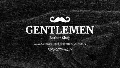 Online Business Card Maker for Gentlemen Barber Shop 103c-1903